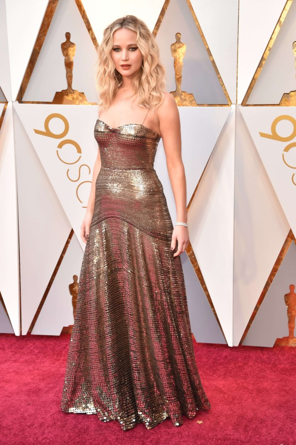 9. Дженнифер Лоуренс в платье Christian Dior